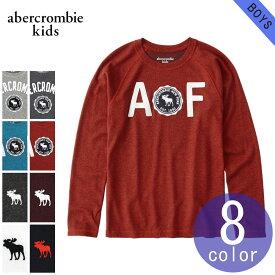 アバクロキッズ AbercrombieKids 正規品 子供服 ボーイズ クルーネック長袖Tシャツ logo graphic tee