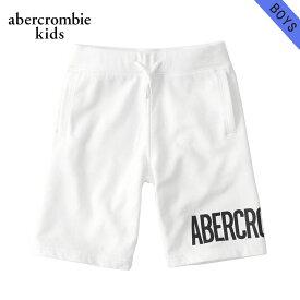 アバクロキッズ スウェット ボーイズ 子供服 正規品 AbercrombieKids トレーナー ハーフパンツ logo pull-on fleece shorts 228-687-0001-001