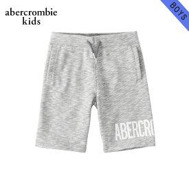 【ポイント10倍 11/19 20:00〜11/24 01:59まで】 アバクロキッズ スウェット ボーイズ 子供服 正規品 AbercrombieKids トレーナー ハーフパンツ logo pull-on fleece shorts 228-687-0001-012