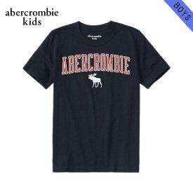 【クーポンゲットで10%OFF 12/1 00:00〜12/2 9:59】 アバクロキッズ Tシャツ ボーイズ 子供服 正規品 AbercrombieKids 半袖Tシャツ クルーネック ロゴTシャツ embroidered logo tee 223-619-1117-023
