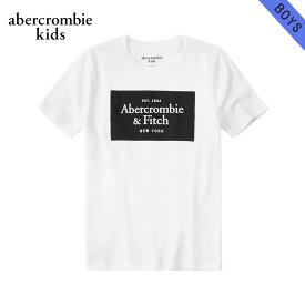 【クーポンゲットで10%OFF 12/1 00:00〜12/2 9:59】 アバクロキッズ Tシャツ ボーイズ 子供服 正規品 AbercrombieKids 半袖Tシャツ クルーネック ロゴTシャツ logo tech tee 223-616-0180-001