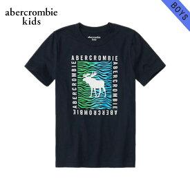 アバクロキッズ Tシャツ ボーイズ 子供服 正規品 AbercrombieKids 半袖Tシャツ クルーネックTシャツ short-sleeve logo tee 223-616-0181-023 父の日 ギフト ラッピング