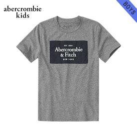 アバクロキッズ Tシャツ ボーイズ 子供服 正規品 AbercrombieKids 半袖Tシャツ クルーネック ロゴTシャツ logo tech tee 223-616-0180-013 父の日 ギフト ラッピング