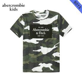 【クーポンゲットで10%OFF 12/1 00:00〜12/2 9:59】 アバクロキッズ Tシャツ ボーイズ 子供服 正規品 AbercrombieKids 半袖Tシャツ クルーネック ロゴTシャツ logo tech tee 223-616-0180-036