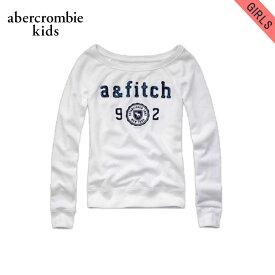 アバクロキッズ スウェット ガールズ 子供服 正規品 AbercrombieKids トレーナー brieann sweatshirt WHITE D20S30