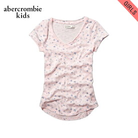 アバクロキッズ Tシャツ 子供服 正規品 AbercrombieKids 半袖Tシャツ VネックTシャツ シャツ printed v-neck tee 239-742-0241-060 D20S30