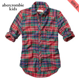 アバクロキッズ シャツ ガールズ 子供服 正規品 AbercrombieKids 長袖シャツ supersoft flannel shirt 240-780-0625-050 D20S30