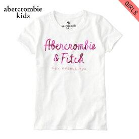 【クーポンゲットで10%OFF 12/1 00:00〜12/2 9:59】 アバクロキッズ Tシャツ 子供服 正規品 AbercrombieKids 半袖Tシャツ fitted shine logo graphic tee 257-891-0048-001