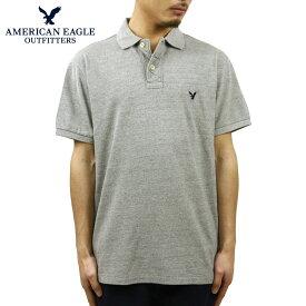 アメリカンイーグル ポロシャツ メンズ 正規品 AMERICAN EAGLE 半袖ポロシャツ Polo グレー D15S25