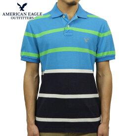 アメリカンイーグル ポロシャツ メンズ 正規品 AMERICAN EAGLE 半袖ポロシャツ 2165-6997 ネイビーブルー D20S30