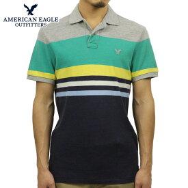 アメリカンイーグル ポロシャツ メンズ 正規品 AMERICAN EAGLE 半袖ポロシャツ 2165-6996 ネイビーグレーグリーン D40S50