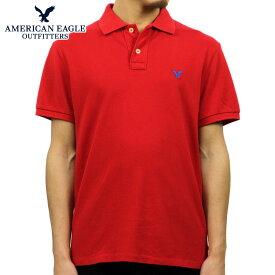 アメリカンイーグル ポロシャツ メンズ 正規品 AMERICAN EAGLE 半袖ポロシャツ 1165-6721 レッド D35S45