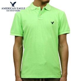 アメリカンイーグル ポロシャツ メンズ 正規品 AMERICAN EAGLE 半袖ポロシャツ 1165-6721 ライム D20S30