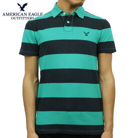 アメリカンイーグル ポロシャツ メンズ 正規品 AMERICAN EAGLE 半袖ポロシャツ AE Striped Jersey Polo 2165-7192