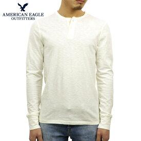 アメリカンイーグル Tシャツ メンズ 正規品 AMERICAN EAGLE 長袖Tシャツ ヘンリーネックTシャツ AE Legend Long Sleeve Henley 4171-7605 CREAM D20S30