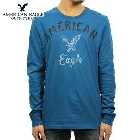 アメリカンイーグル Tシャツ メンズ 正規品 AMERICAN EAGLE 長袖Tシャツ GRAPHIC T-SHIRT 0518-3899 BLUE D30S40