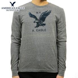 アメリカンイーグル Tシャツ メンズ 正規品 AMERICAN EAGLE 長袖Tシャツ GRAPHIC T-SHIRT 0518-3902 GREY