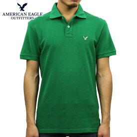 アメリカンイーグル ポロシャツ メンズ 正規品 AMERICAN EAGLE 半袖ポロシャツ AEO Solid Polo 1511-8083 D20S30