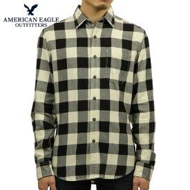 アメリカンイーグル シャツ メンズ 正規品 AMERICAN EAGLE 長袖シャツ ネルシャツ EO Factory Plaid Flannel Shirt 0513-8895