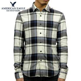 【ポイント10倍 11/19 20:00〜11/26 01:59まで】 アメリカンイーグル シャツ メンズ 正規品 AMERICAN EAGLE 長袖シャツ ネルシャツ AEO Plaid Flannel Shirt 0513-8895