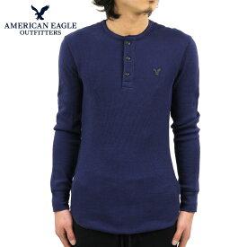アメリカンイーグル AMERICAN EAGLE 正規品 メンズ ヘンリーネック長袖Tシャツ AEO Thermal Henley 1519-