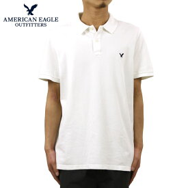 アメリカンイーグル ポロシャツ 正規品 AMERICAN EAGLE 半袖ポロシャツ AEO CLASSIC FIT FLEX PIQUE POLO 1165-8500 100 D00S20