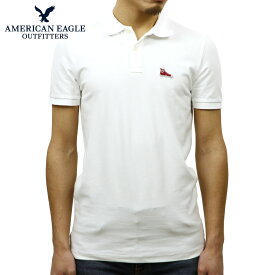 アメリカンイーグル ポロシャツ 正規品 AMERICAN EAGLE 半袖ポロシャツ AEO FLEX SOLID PATCH POLO 1165-8656-110