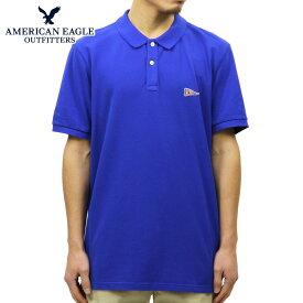 アメリカンイーグル ポロシャツ 正規品 AMERICAN EAGLE 半袖ポロシャツ AEO FLEX SOLID PATCH POLO 1165-8656-499