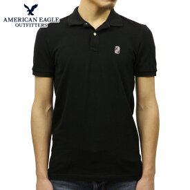 アメリカンイーグル ポロシャツ 正規品 AMERICAN EAGLE 半袖ポロシャツ AEO FLEX SOLID PATCH POLO 1165-8656-064