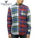 74d892e73a American eagle AMERICAN EAGLE regular article men long sleeves button-down  shirt AEO PATCHWORK OXFORD SHIRT 0153-9836-900