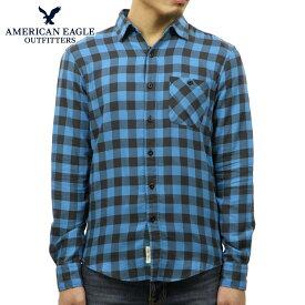 【販売期間 12/4 10:00〜12/11 02:59】 アメリカンイーグル シャツ メンズ 正規品 AMERICAN EAGLE 長袖シャツ ボタンダウンシャツ AEO CLASSIC PLAID SHIRT 2153-9833-395