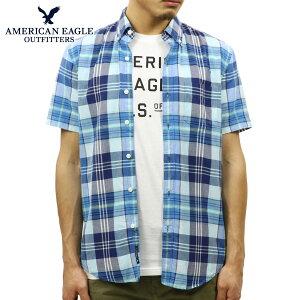 アメリカンイーグルAMERICANEAGLE正規品メンズ半袖シャツAEOSHORTSLEEVEMADRASSHIRT2154-9804-400