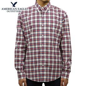アメリカンイーグル AMERICAN EAGLE 正規品 メンズ 長袖 ボタンダウンシャツ AE PLAID POPLIN BUTTON-DOWN SHIRT 0153-1272-106 買いまわり