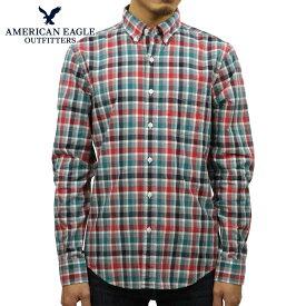アメリカンイーグル AMERICAN EAGLE 正規品 メンズ 長袖 ボタンダウンシャツ AE PLAID POPLIN BUTTON-DOWN SHIRT 0153-1272-900 買いまわり