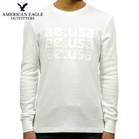 アメリカンイーグル AMERICAN EAGLE 正規品 メンズ サーマル クルーネック長袖Tシャツ ロンT AE Beyond-Soft Thermal 1175-3855-100