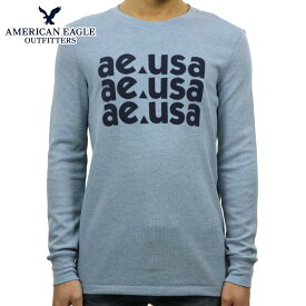 アメリカンイーグル AMERICAN EAGLE 正規品 メンズ サーマル クルーネック長袖Tシャツ ロンT AE Beyond-Soft Thermal 1175-3855-443