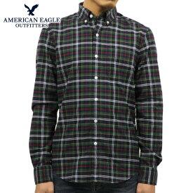 【ポイント10倍 11/19 20:00〜11/26 01:59まで】 アメリカンイーグル AMERICAN EAGLE 正規品 メンズ ボタンダウン長袖シャツ AE Seriously Soft Oxford Buttondown Shirt 0153-1340-900