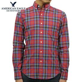 アメリカンイーグル AMERICAN EAGLE 正規品 メンズ ボタンダウン長袖シャツ AE Plaid Poplin Button-Down Shirt 0153-1272-600 買いまわり