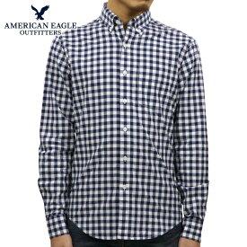 【ポイント10倍 11/19 20:00〜11/26 01:59まで】 アメリカンイーグル AMERICAN EAGLE 正規品 メンズ ボタンダウン長袖シャツ AE Plaid Poplin Button-Down Shirt 0153-1272-410