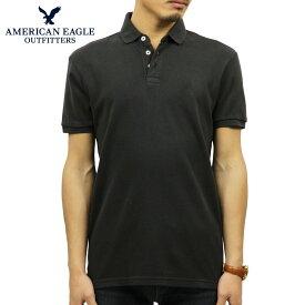 アメリカンイーグル AMERICAN EAGLE 正規品 メンズ ワンポイントロゴ 半袖ポロシャツ AE Ultra Soft Logo Polo Shirt 1165-8848-001