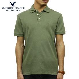 アメリカンイーグル AMERICAN EAGLE 正規品 メンズ ワンポイントロゴ 半袖ポロシャツ AE Ultra Soft Logo Polo Shirt 1165-8848-309