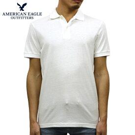 アメリカンイーグル AMERICAN EAGLE 正規品 メンズ ワンポイントロゴ 半袖ポロシャツ AE Logo Jersey Polo Shirt 1165-8851-100