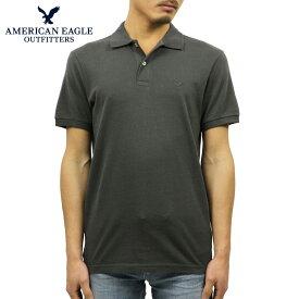 アメリカンイーグル AMERICAN EAGLE 正規品 メンズ ワンポイントロゴ 半袖ポロシャツ AE Logo Jersey Polo Shirt 1165-8851-008