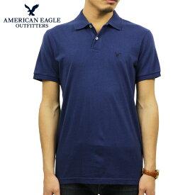 アメリカンイーグル AMERICAN EAGLE 正規品 メンズ ワンポイントロゴ 半袖ポロシャツ AE Logo Jersey Polo Shirt 1165-8851-400