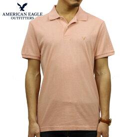 アメリカンイーグル AMERICAN EAGLE 正規品 メンズ ワンポイントロゴ 半袖ポロシャツ AE Logo Jersey Polo Shirt 1165-8851-823