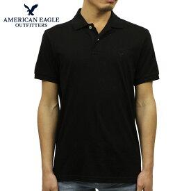 アメリカンイーグル AMERICAN EAGLE 正規品 メンズ ワンポイントロゴ 半袖ポロシャツ AE Logo Jersey Polo Shirt 1165-8851-001
