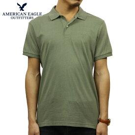 アメリカンイーグル AMERICAN EAGLE 正規品 メンズ ワンポイントロゴ 半袖ポロシャツ AE Logo Jersey Polo Shirt 1165-8851-309