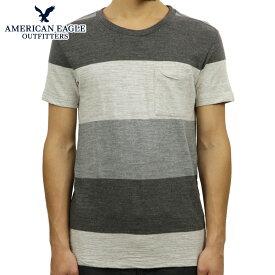 アメリカンイーグル Tシャツ 正規品 AMERICAN EAGLE 半袖Tシャツ AE STRIPE TEE 1162-9263-024