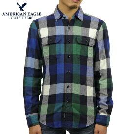 アメリカンイーグル シャツ メンズ 正規品 AMERICAN EAGLE 長袖シャツ ネルシャツ AE FLANNEL SHIRT 2151-1001-300 買いまわり