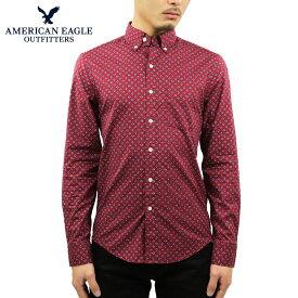 アメリカンイーグル シャツ メンズ 正規品 AMERICAN EAGLE 長袖シャツ ボタンダウンシャツ AE POPLIN BUTTON UP SHIRT 0153-1602-622